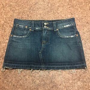 Hudson Distressed Mini Skirt